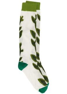 Marni leaf pattern socks