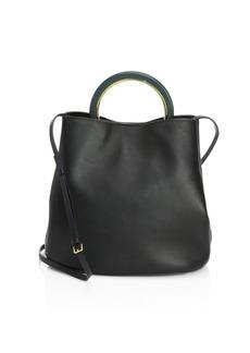 Marni Leather Crossbody Bucket Bag