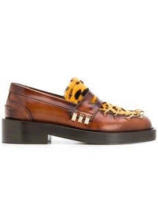Marni leopard panel chunky loafers
