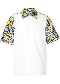 Marni leopard print detail shirt