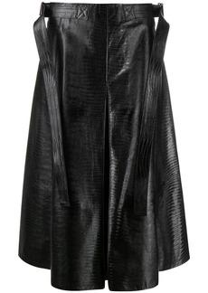 Marni lizard-effect A-line midi skirt