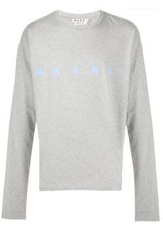 Marni logo print long-sleeved T-shirt