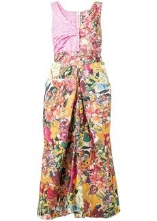 Marni long patch dress