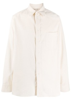 Marni long-sleeved corduroy shirt
