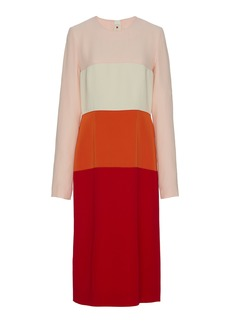 Marni - Women's Twill Midi Dress With Contrasting Panels - Multi - Moda Operandi