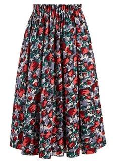 Marni A-line tulip-print midi skirt