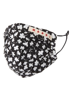 Marni Adult Floral Print Pleated Face Mask Cover