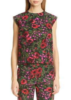 Marni Amarcord Floral Print Faille Top