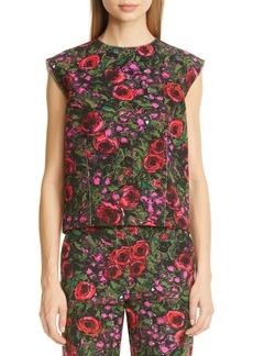 Marni Amarcord Floral Print Faille Top
