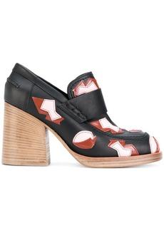 b013e02a799 Marni applique detail heeled loafers - Black