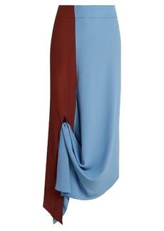 Marni Asymmetric-hem crepe midi skirt