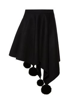 Marni Asymmetric pompom skirt