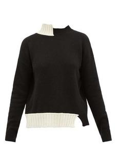 Marni Asymmetric virgin wool-blend sweater
