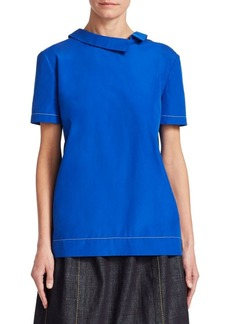 Marni Asymmetrical Collar Blouse