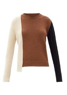 Marni Asymmetrical colour-block cashmere-blend sweater