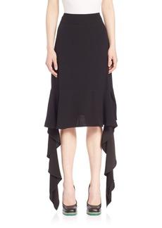 Marni Asymmetrical Ruffle Crepe Skirt