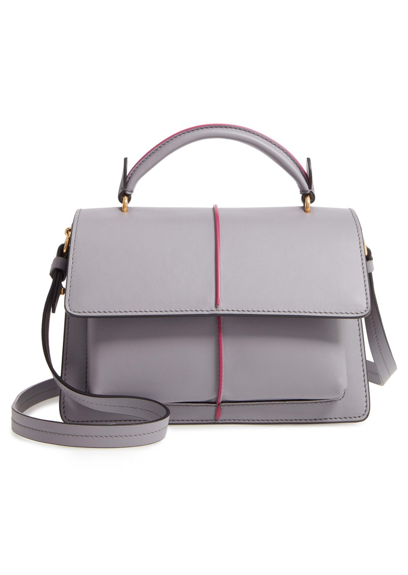 Marni Attaché Leather Top Handle Bag