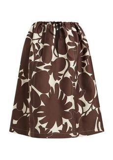 Marni Avery floral-print midi skirt