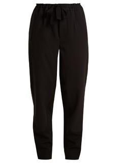 Marni Bi-colour tapered-leg stretch-wool trousers