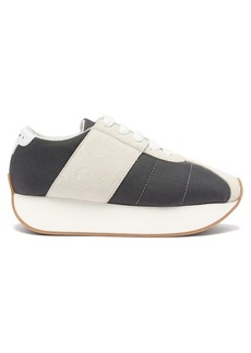 Marni Big Foot low-top suede trainers