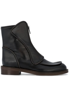 Marni Black Leather Front Zip boots