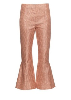 Marni Blossom-print kick-flare trousers