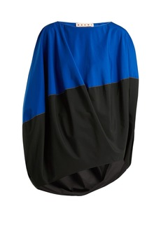 Marni Boat-neck slit-sleeved asymmetric top