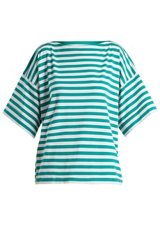 Marni Boat-neck striped cotton top
