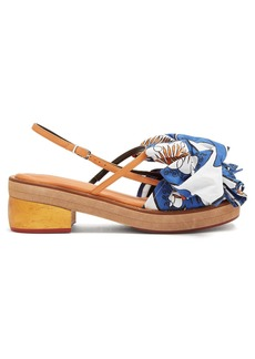 Marni Bow-embellished leather sandals