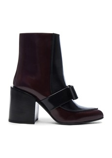 Marni Bow Leather Booties
