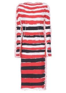 Marni Brushtroke stripe-print gauze dress