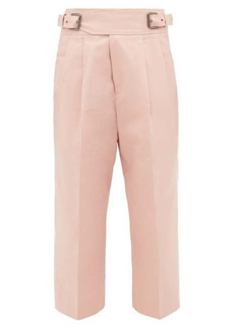 Marni Buckled cotton-blend cropped trousers