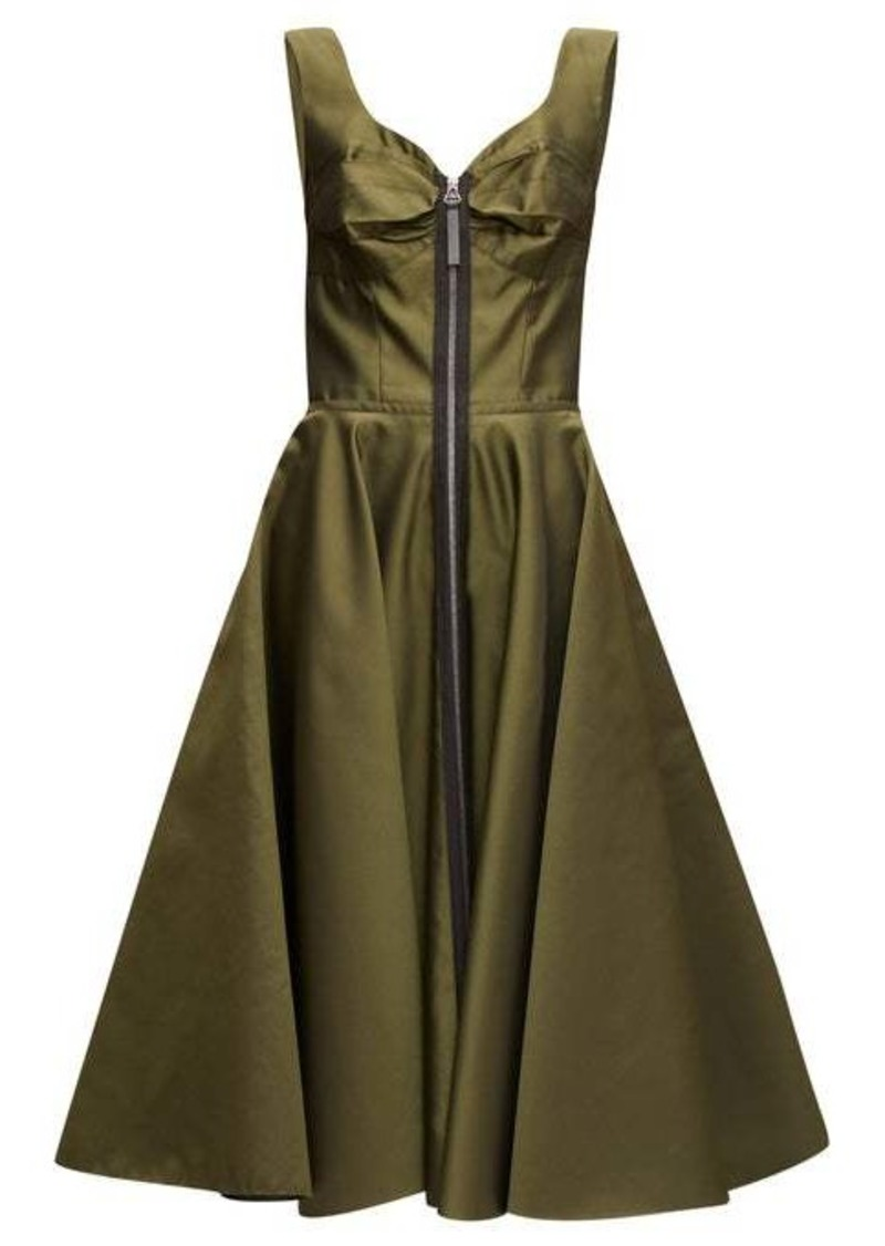 Marni Zip-through bustier-inspired twill midi dress
