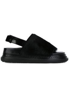Marni calf hair 'Fussbett' sandals