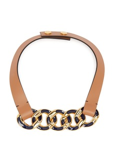 Marni Chain link leather necklace