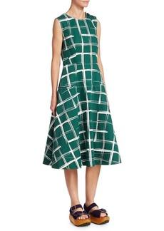 Marni Check Midi Dress