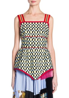 Marni Check Print Tank Top