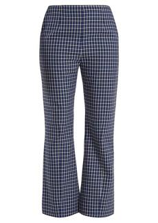 Marni Checked kick-flared wool trousers