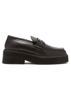 Marni Chunky square-toe leather loafers