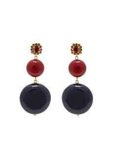 Marni Circle-drop crystal-embellished earrings