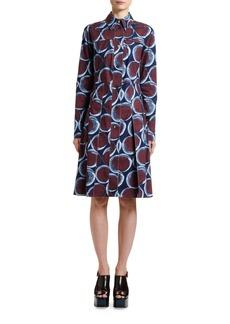 Marni Circle Print Pleated Shirtdress