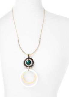 "Marni Circles Acrylic & Strass Pendant Necklace, 24"""