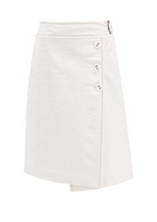 Marni Coated-tweed wrap skirt