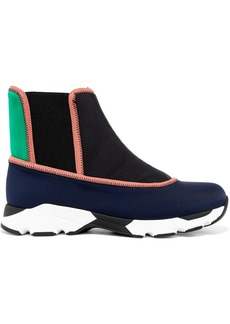 Marni Color-block neoprene slip-on high-top sneakers