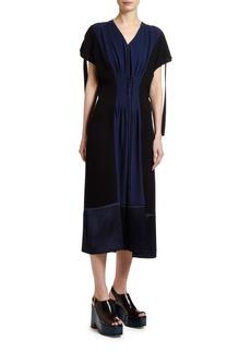 Marni Colorblocked Corset-Waist Dress