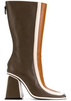 Marni colour block boots - Brown