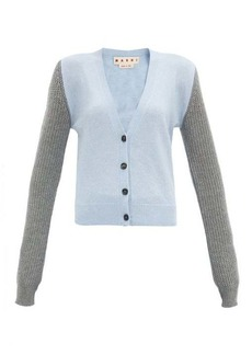 Marni Colour-block cashmere-blend cardigan