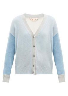 Marni Colour-block cashmere cardigan