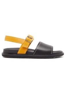 Marni Colour-block leather sandals