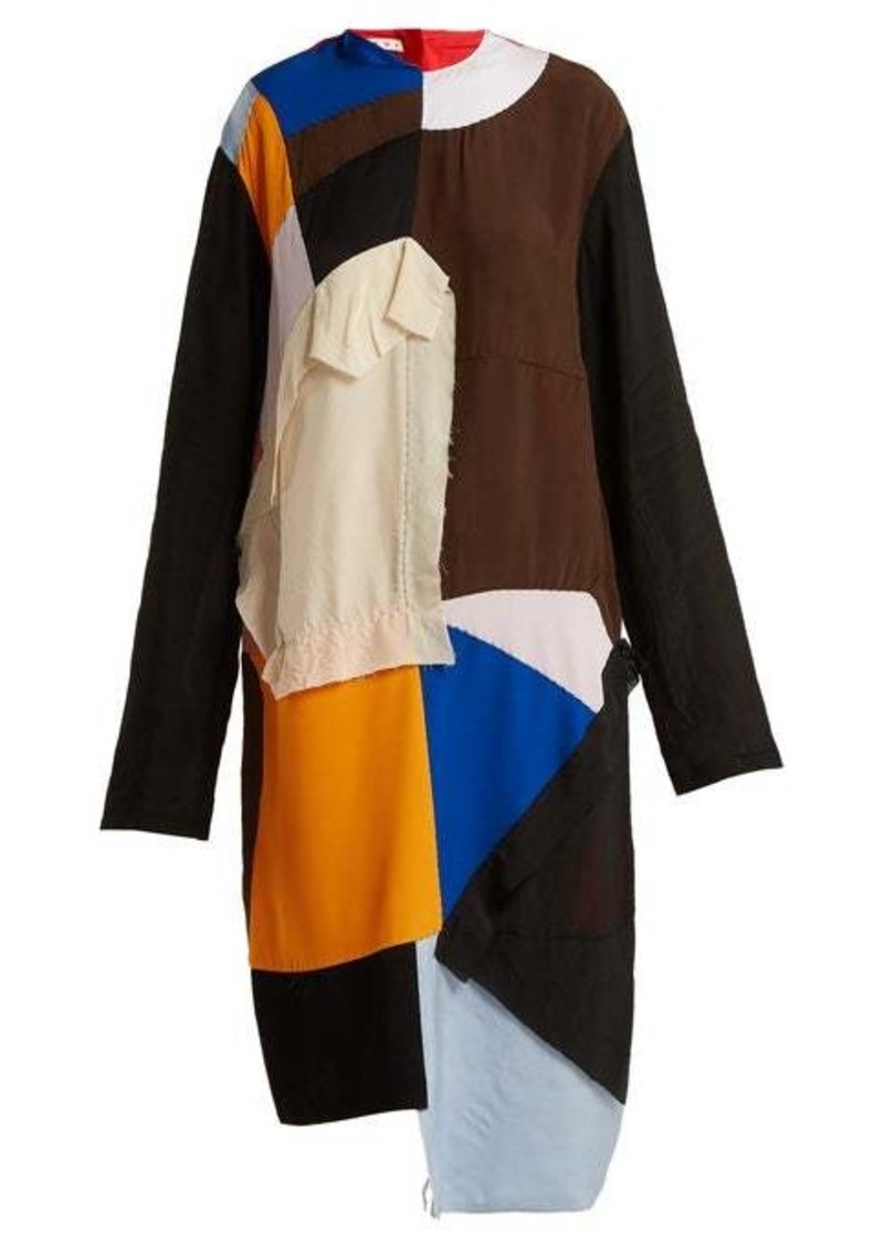 Marni Colour-block patchwork dress